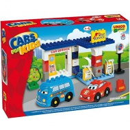 Unico: Stavebnica Cars for kids - Čerpacia stanica 43ks